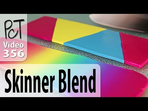 How To Make A Polymer Clay Skinner Blend