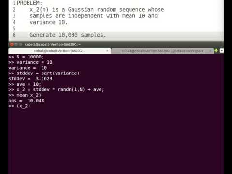 [Octave/Matlab] Gaussian Distributed Random Sequence
