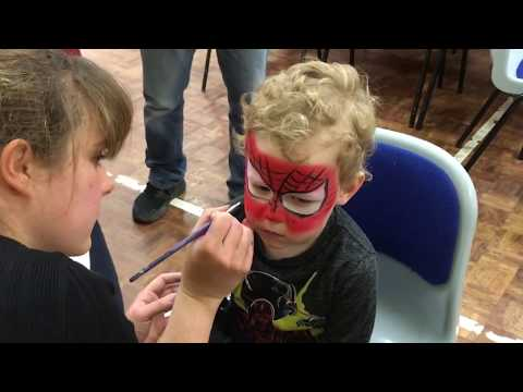 Spiderman Face Painting How To