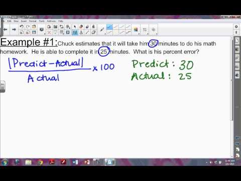 How to find Percent Error
