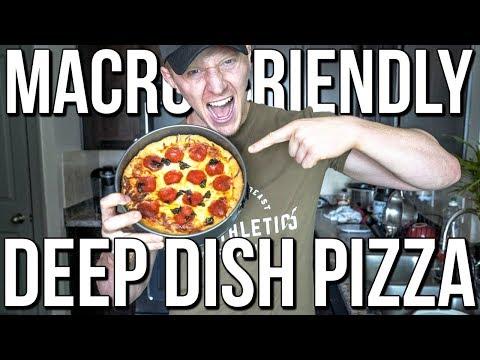 HIGH-PROTEIN BODYBUILDING DEEP DISH PIZZA | Amazing Macros & Delicious!!!