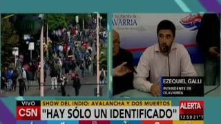 C5N - Tragedia del show del Indio: Conferencia del intendente de Olavarría,  Galli