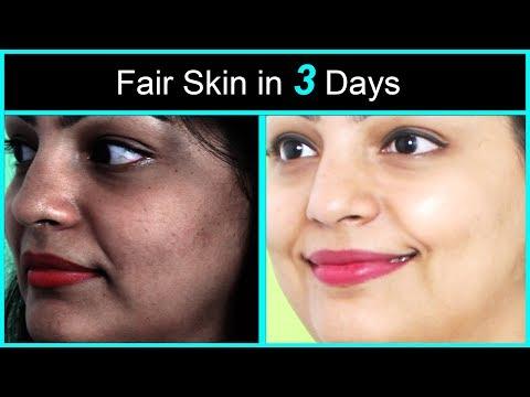 3 Days Fairness Challenge | Homemade Skin Whitening Scrub & Mask