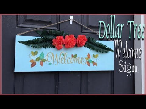 DOLLAR TREE DIY Welcome Sign