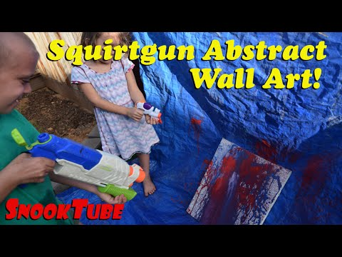Kid made Squirtgun Abstract painting