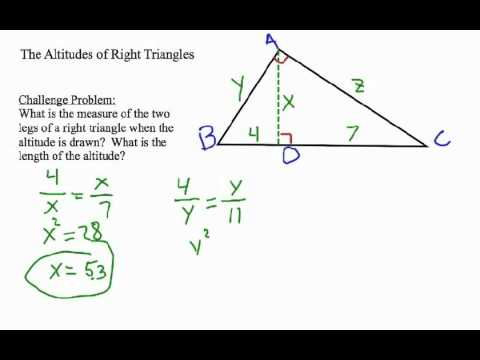 How to Find the Altitude of a Right Triangle