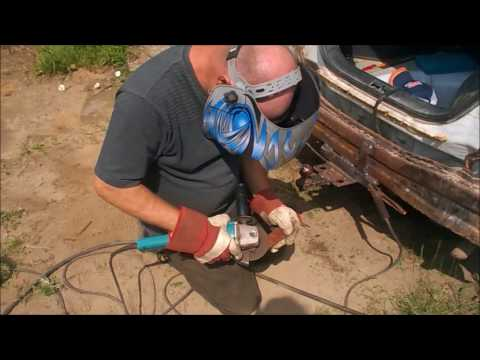 Installing A Homemade Trailer Hitch On Our 2001 Kia Rio