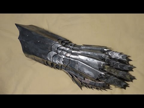 Steel Armor Gauntlet Completed Medieval Lord of the Rings