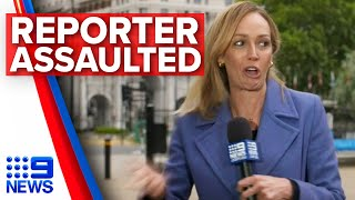 Australian reporter assaulted on live TV in London   Nine News Australia