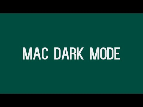 How to Enable the Dark Menu and Dock Feature For Mac | OS X El Capitan