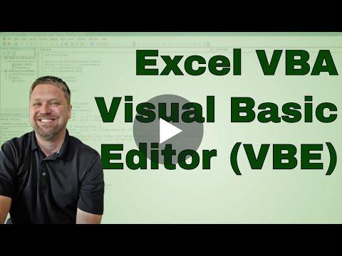 EverdayVBA Visual Basic Editor or VBE