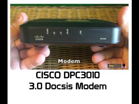Cisco DPC3010 3.0 Docsis Modem UNBOX video