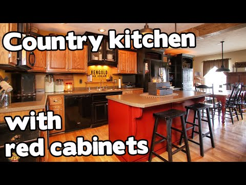Country house for sale in KY, red cabinets, Homes and Land For Sale in Kentucky