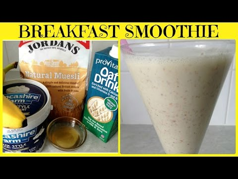 Weight Loss Breakfast Muesli Smoothie (Quick & Easy)