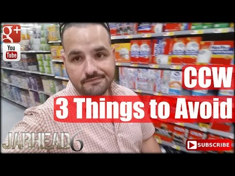 Concealed Carry: 3 Things to Avoid