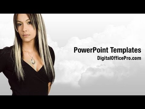 Portrait of Women PowerPoint Template Backgrounds - DigitalOfficePro #02789W