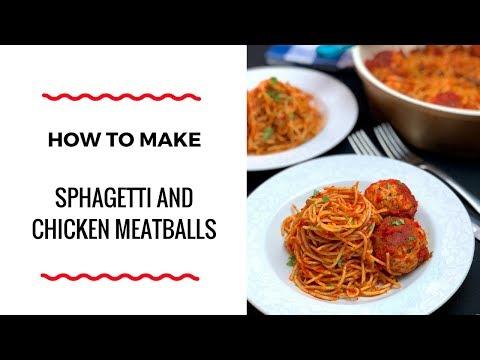 HOW TO MAKE SPAGHETTI AND CHICKEN MEATBALLS - PASTA RECIPE -  ZEELICIOUS FOODS