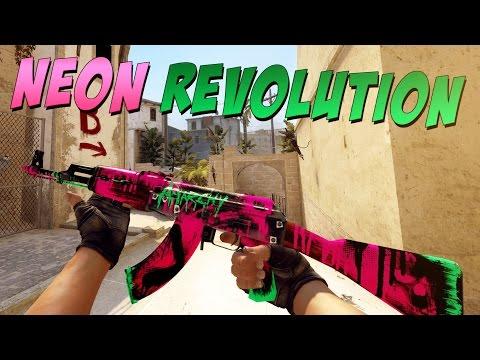 cs go ak 47 neon revolution gameplay daikhlo