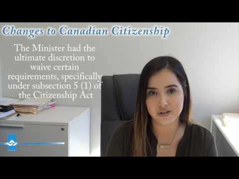 Changes to Canadian Citizenship 2017