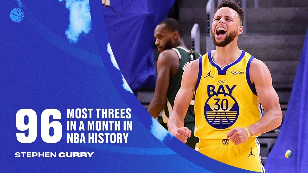 April Showers! All 96 Threes From Stephen Curry's Record Breaking Month ☔️