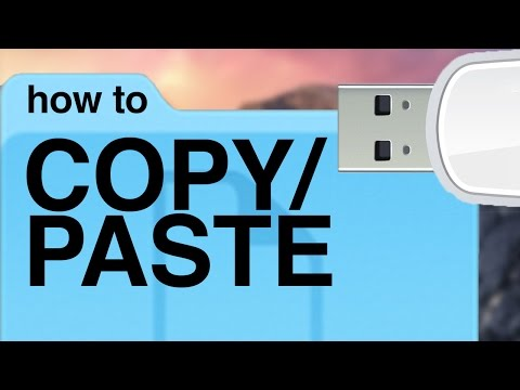 How to Copy/Paste files documents to USB flash drive usb stick