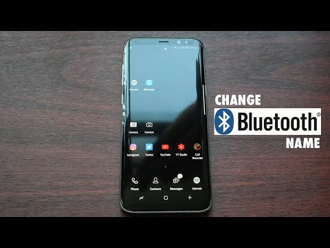 Change Bluetooth Name on Samsung Galaxy S8, S8+ and Note 8