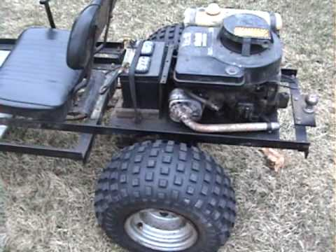 A little fun & closeup view of my Brother's GO Kart with a 8 HP Briggs & Stratton Engine 3-28-10.wmv