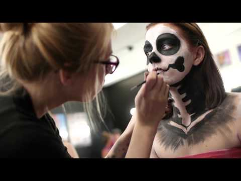 Special FX and Body painting classes. CMC-Makeup-School