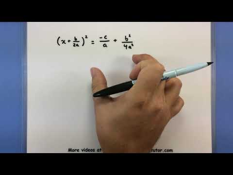 Pre-Calculus - Building the quadratic formula