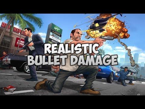 Realistic Bullet Damage Mod GTA 5! [PC]