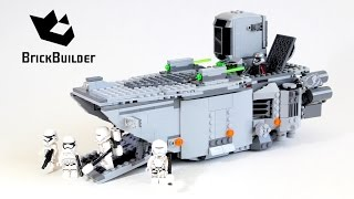 Lego Star Wars 75103 First Order Transporter - Lego Speed Build