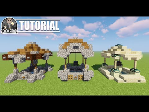 How to build a well - 3 design Minecraft tutorial