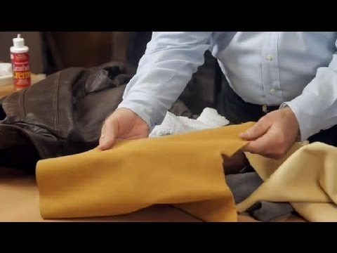 How to Maintain a Leather Jacket : Leather & Fabric Care