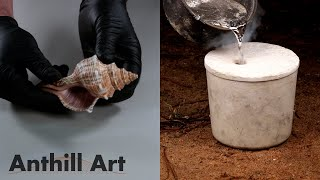 Casting a Seashell with Molten Aluminum