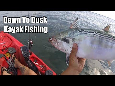 Dawn To Dusk Multi-Species Kayak Fishing | Fall Run Fishing in NY!