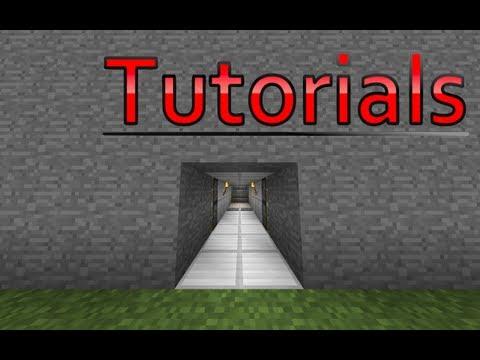 Minecraft Hidden Piston Door Tutorial