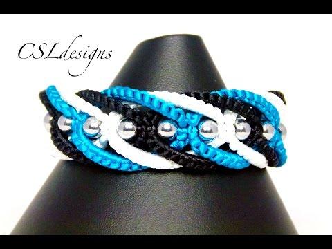 Twisted intertwining macrame bracelet
