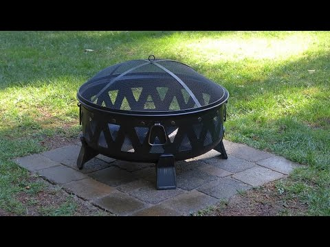 Installing a paver base for a metal fire pit