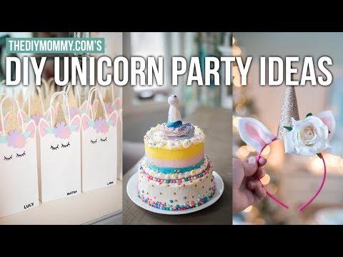 DIY Unicorn Party Ideas | Girls Party Decoration Ideas