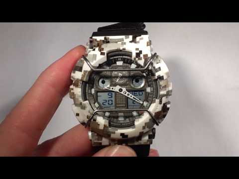 How to set the time and hands on your G-Shock analog-digital watch GA-100 (Module 5081)