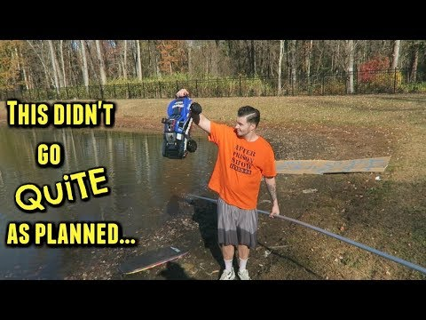 I Tried To Drive My RC Car Across A Lake