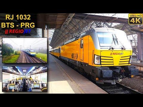 TRAIN EXPERIENCE   Bratislava - Prague   REGIOJET EuroCity Train