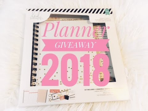 GIVEAWAY: Heidi Planner (January 2018) ♥ CLOSED ♥