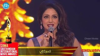Sri Devi Speech for Tamil Fans || SIIMA 2014 Awards