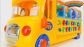 Best Toy Learning Video for Toddlers Learn Colors, Numbers with Pororo Little Penguin Bus and House!