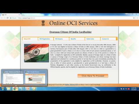 India - Endorse your New Passport with OCI Card