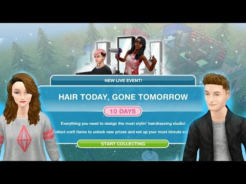 Simsfreeplay - Hair Today, Gone Tomorrow Hair Salon Live Event Christmas Holiday Update