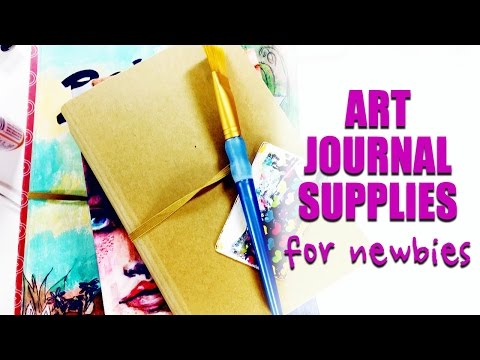 Art Journaling For Beginners   Basic Supplies