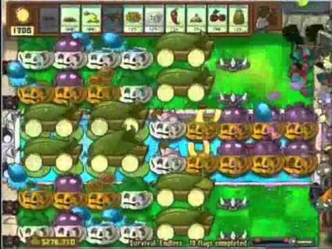 Plants vs Zombies Survival Endless - Perfect Strategy