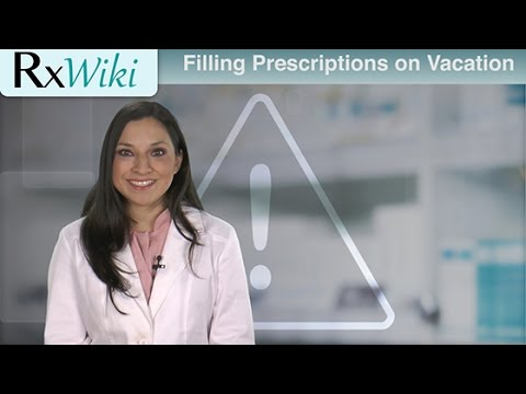 How Do I Refill My Prescription If I Am On Vacation?
